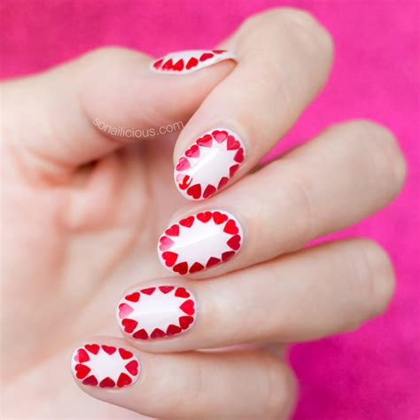 easy valentines nails easy s day nail tutorial