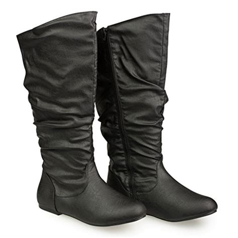 Leather Plain Flat Boot At Shellys by Twisted S Shelly Wide Width Wide Calf Faux Leather