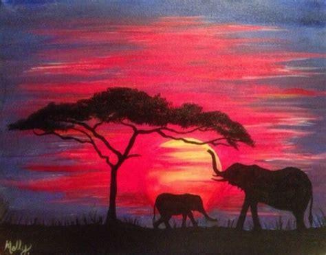 paint nite elephant paintnite at simonhollt elephants sunset simonholt