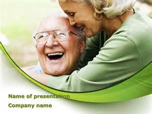 elderly couple presentation template for powerpoint and