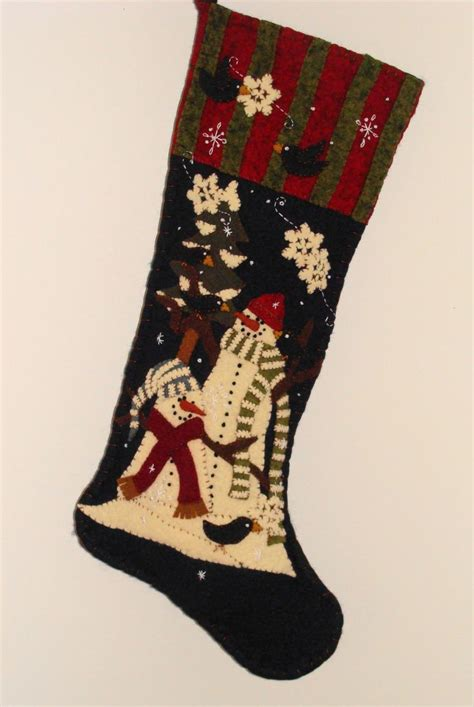 simple pattern for christmas stocking cd158 snowpals 25 quot long stocking hand applique or