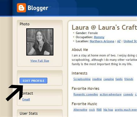 blogger profile blogger enable your email for comments laura s crafty life