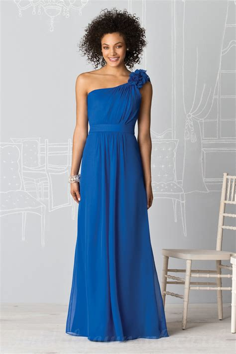 Blue Bridesmaid Dress by Buy Cheap One Shoulder Flower Royal Blue Bridesmaid