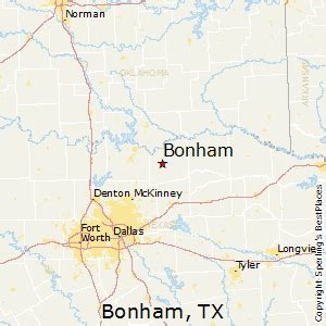 bonham map best places to live in bonham