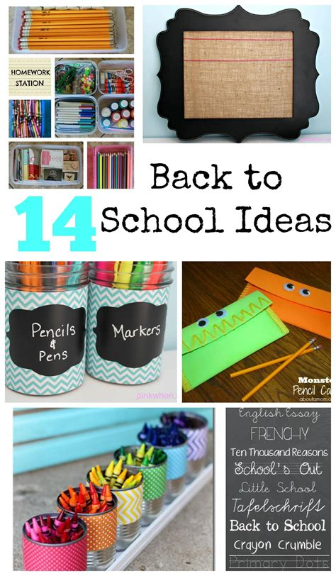 ideas for to make at school 14 must back to school ideas pinkwhen