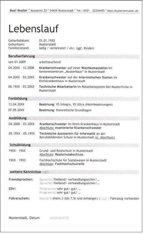 Lebenslauf Vorlage Krankenschwester 6 Lebenslauf Balken Krankenschwester Trebuchet Id 447 Seite 1 1 Gewusst Wie