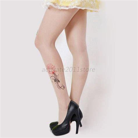 animal tattoo tights cute women animal tail gipsy mock hosiery pantyhose tattoo