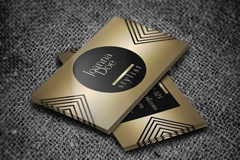 Gold Fashion Stylist Business Card Template 30 amazing free business card psd templates