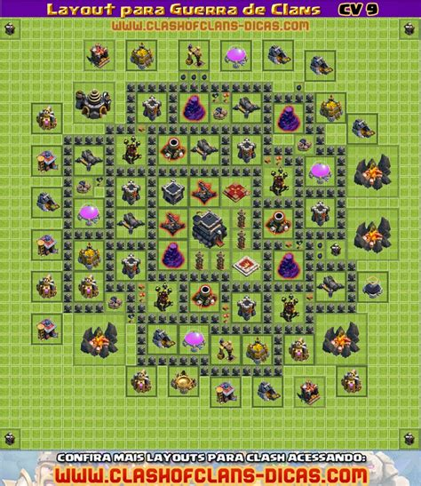 layout troll cv 9 layouts cv9 para a guerra de clans clash of clans dicas