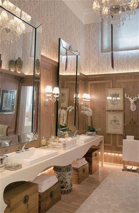 deer bathroom love the over sized mirrors house decor pinterest
