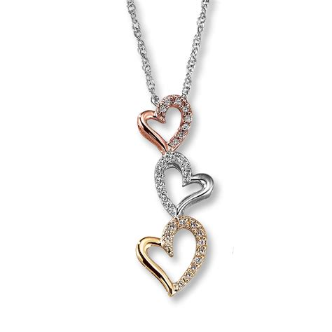 necklace 1 10 ct tw sterling silver