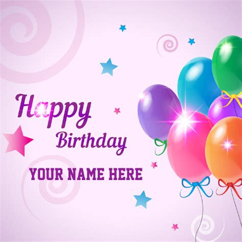 Happy Birthday Cards Write Name Happy Birthday Celebration Greeting With Custom Name