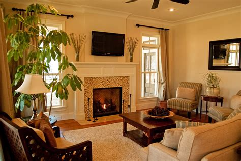Living Room Fireplace | living room with fireplace and tv