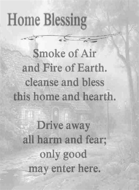 Home Blessing: Smoke of Air and Fire or Earth, cleanse and