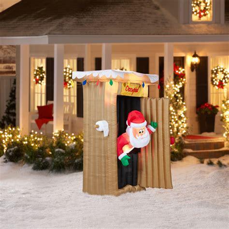 walmart up decorations 6 animated airblown santa