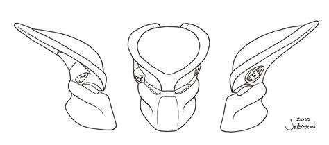 Predator Helmet Drawing