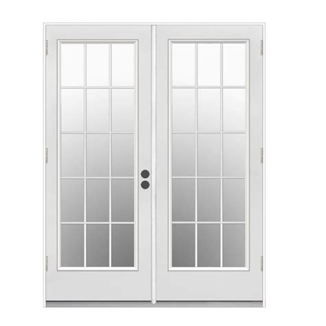 outswing doors exterior shop reliabilt 59 5 in 15 lite glass primer white steel