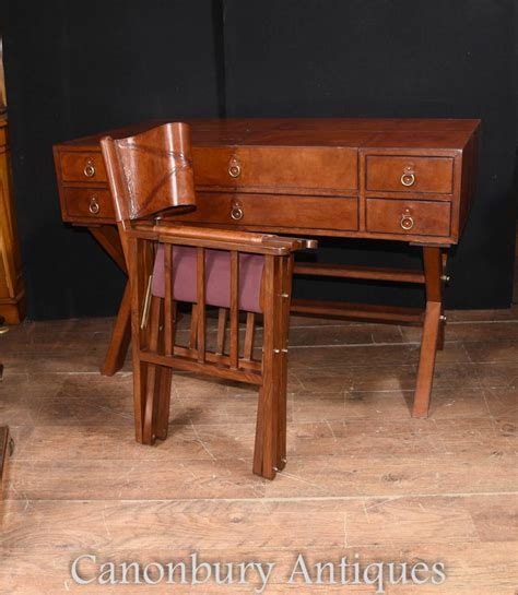 writing desk and chair set leather caign desk and chair set writing luggage
