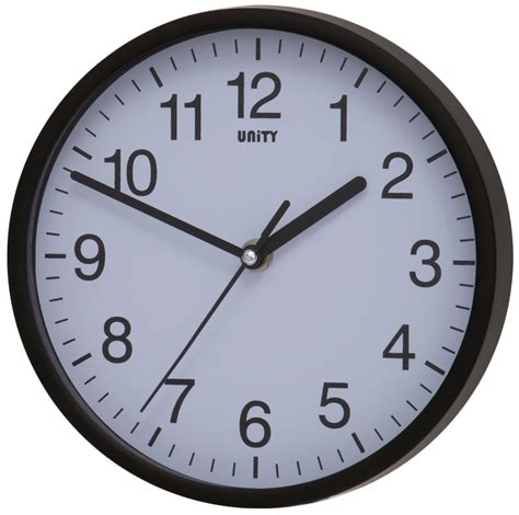 silent wall clocks silent sweep wall clock by unity radcliffe clock in black