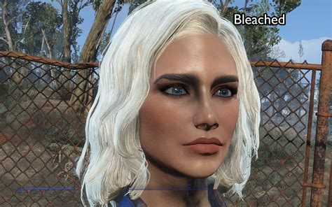 fallout 4 hair color hair mod blonde hair with dark eyebrows at fallout 4