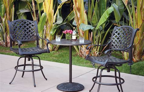 patio furniture bistro set cast aluminum 30 quot