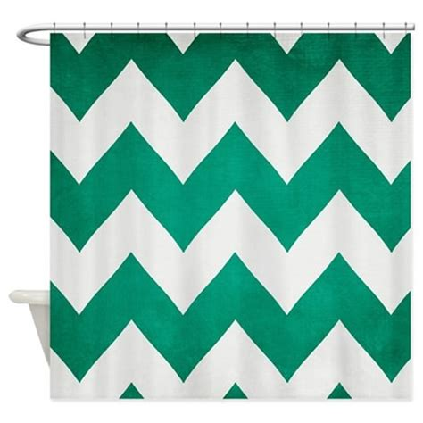 Emerald Green Shower Curtain by 2013 Emerald Green Chevron Shower Curtain By