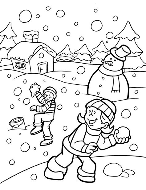 free winter coloring pages winter coloring pages 7 coloring