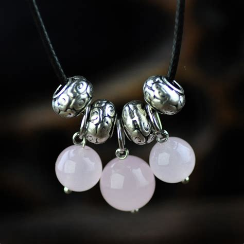Original Handmade Jewelry - original handmade jewelry pink chalcedony miao silver