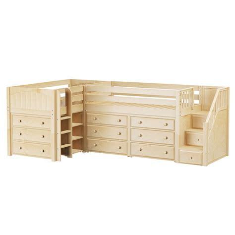 bunk bed with dresser tandem corner low loft bed with dressers rosenberryrooms com