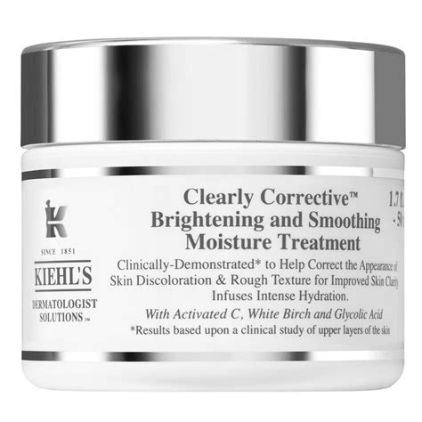 Kiehls Clear Corrective Brightening And Smoothing Moisture Treat 7ml kiehl s since 1851 introduces new products news
