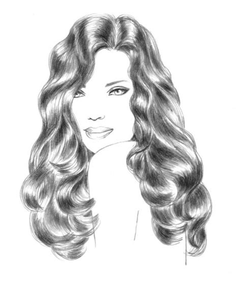 wavy hairstyles drawing 49 best images about hair on pinterest wavy hair