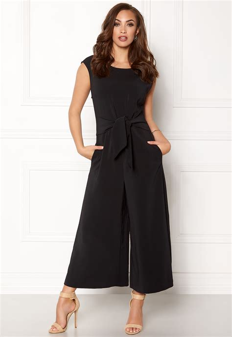 Cropped Jumpsuit vila melis cropped jumpsuit black bubbleroom