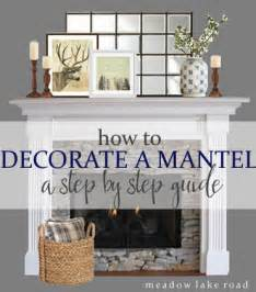How to Decorate a Mantel   Step by Step   Meadow Lake Road