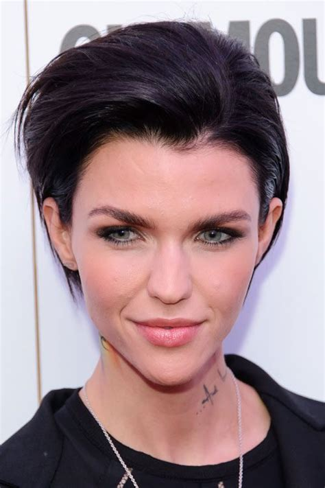 ruby rose straight black pixie cut hairstyle steal her style