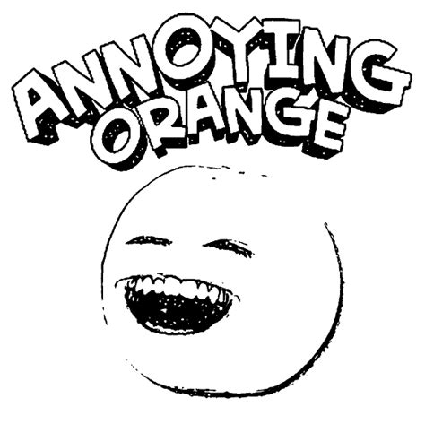 printable annoying orange coloring pages coloring me