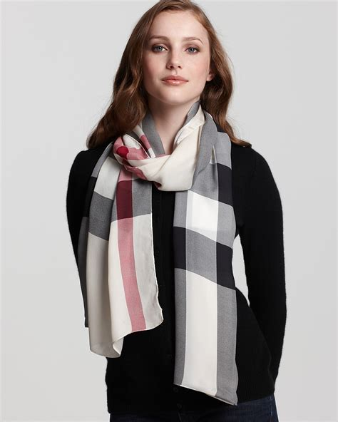 burberry creppone check oblong scarf bloomingdale s