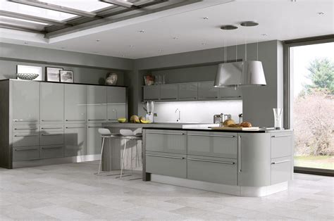 Cambridge Kitchen Cabinets by Odyssey Stone Grey Gloss Kitchen Proline Cabinets Ltd
