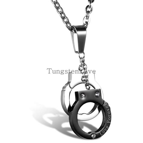 2015 new fashion jewelry stainless steel handcuffs pendant