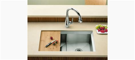 cutting board for undermount sink standard plumbing supply product kohler k 3159 na poise