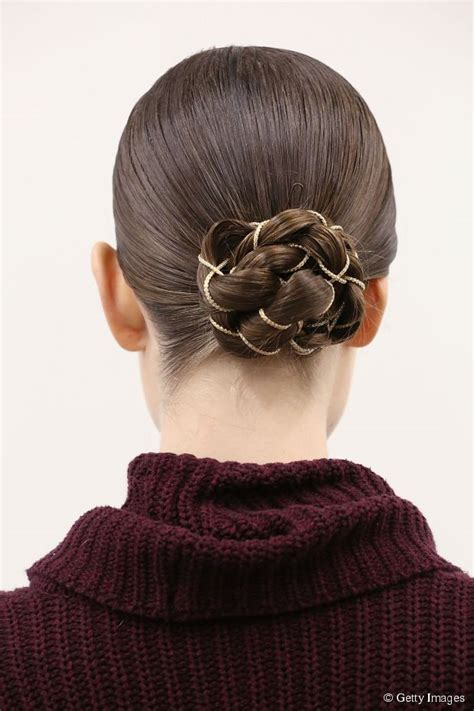 Hairstyle Bun Accessories by Hairstyle Accessories Braid Bun Updo With A Chain