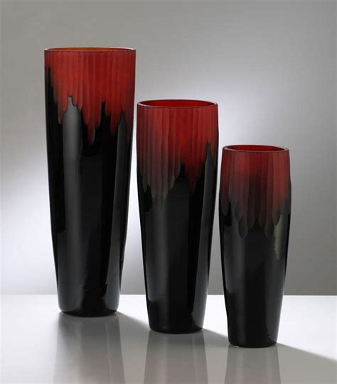 Black Vases by Crimson And Black Vase Cyan Design Interiordecorating