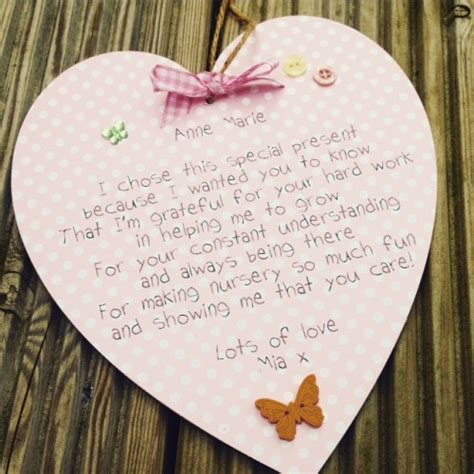 Thank You Letter To Nursery Nursery School Thank You Personalised Wooden