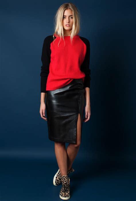 4 ways sweater leather skirt leopard kicks because