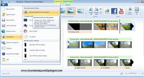 cara membuat video presentasi menggunakan movie maker cara membuat video dengan photo menggunakan windows live