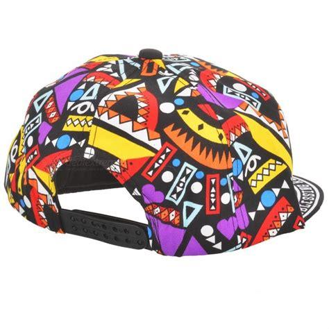 Gratis Ongkir Topi Snapback Mdiv wb 09241 quot mdiv quot pattern hip hop style four seasons hat black multi color free shipping