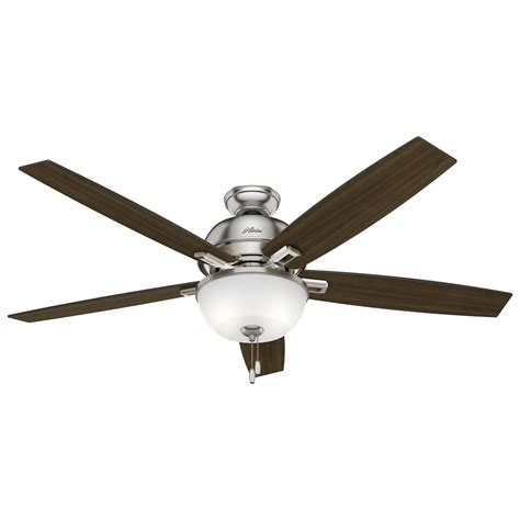 brushed nickel ceiling fan light kit shop donegan 60 in brushed nickel downrod or