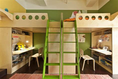 2 beds in 1 2 loft beds in one room home design