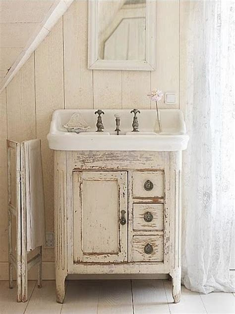 this sink farmhouse bathroom with stand alone vanity and sink great paint patina