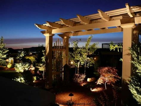 Garden Lighting Ideas With Pergola Exterior Facade Outdoor Pergola Lighting Ideas