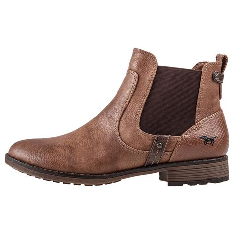 Ankle Chelsea Boots mustang ankle boot womens chelsea boots in chestnut